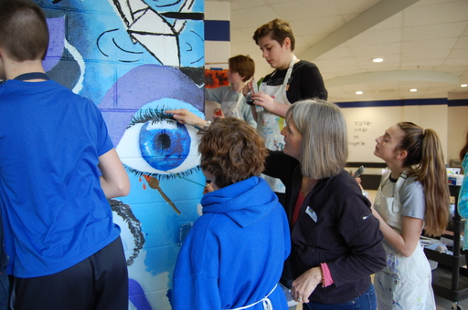 Eighth Graders Leave their Mark on the Walls of HJMS