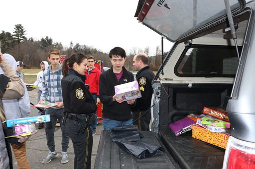 SHS Students Stuff Police Cruiser with Donated Toys