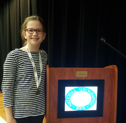 Latimer Lane Student Named Connecticut National Geographic State Bee Semifinalist by National Geographic Society