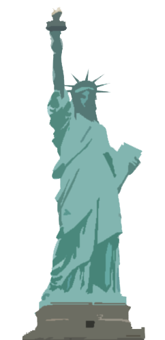 Graphic of Statue of Liberty