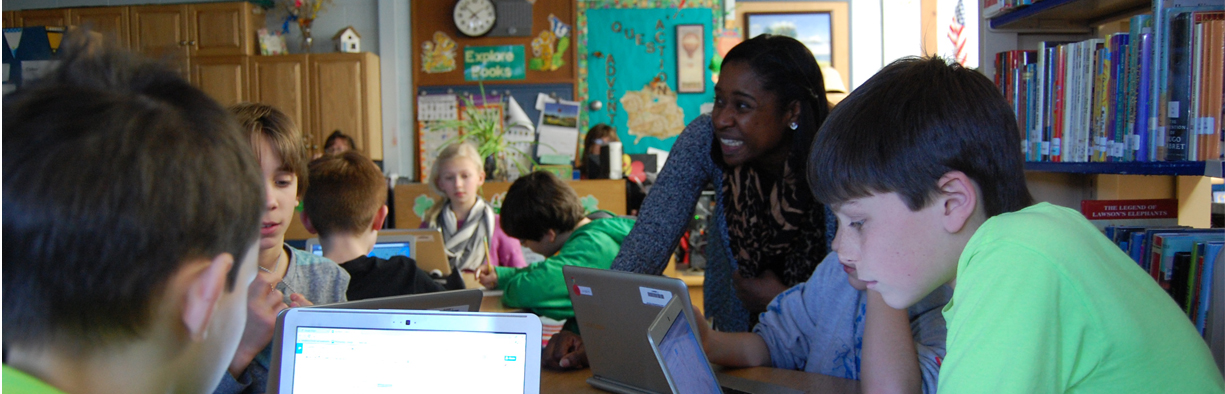 Teacher and Students use Chromebooks