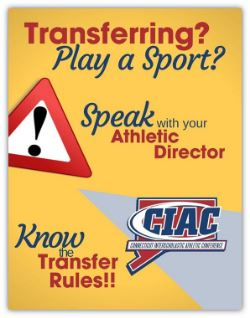 Please contact the Athletic Director if you are transferring and playing a sport.